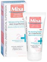 "Mixa Moisturizing Cream Anti-Imperfections 2 in 1 - Овлажняващ крем за лице против несъвършенства от серията ""Anti-Imperfections"" - продукт"
