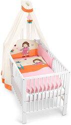 Спален комплект за бебешко креватче - Момиченце - 4 части -