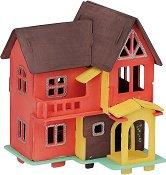 """Къща на мечтите - Дървен 3D пъзел за оцветяване от серията """"Mara"""" -"""
