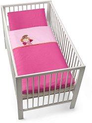 Спален комплект за бебешко креватче - Феята Laura - 2 части -