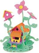 """Къща за феи - Дървен 3D пъзел за оцветяване от серията """"Mara"""" -"""