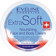 """Eveline Extra Soft Nourishing Face and Body Cream - Подхранващ крем за всеки тип кожа за лице и тяло от серията """"Extra Soft"""" - боя"""
