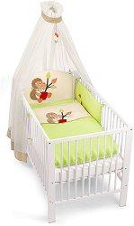 Спален комплект за бебешко креватче - Таралеж - 4 части -
