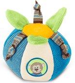 Цветна топка - Маймунката Anton - Мека бебешка дрънкалка -