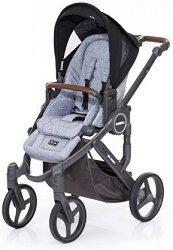 Комбинирана бебешка количка - Mamba Plus: Graphite Grey Black - С 4 колела -