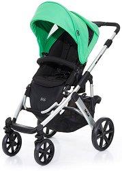 Комбинирана бебешка количка - Salsa 4: Grass Silver - С 4 колела -