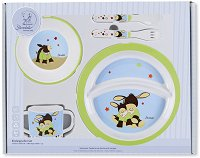 Детски комплект за хранене - Emmi - За бебета над 6 месеца - играчка