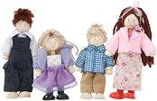 Семейство - Комплект от 4 броя дървени кукли -