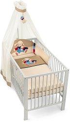 Спален комплект за бебешко креватче - Агънце - 4 части -