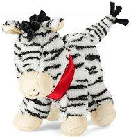 Дрънкалка - Зебра - Мека бебешка играчка -
