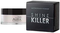 Aura Shine Killer Microfinish Powder - Дълготрайна матираща пудра за лице - червило