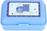 Детска кутия за храна - Хипопотамче - С подвижен разделител - детски аксесоар