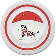 Детска меламинова чиния за хранене - Зебра - За бебета над 6 месеца -