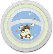 Детска меламинова чиния за хранене - Emmi - За бебета над 6 месеца - играчка