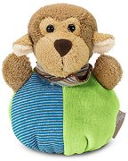 Дрънкалка - Маймунката Anton - Мека бебешка играчка -