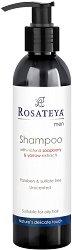 Rosateya Men Shampoo for Oily Hair - Шампоан за мъже със сапунена ядка и бял равнец за мазна коса -