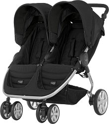 Комбинирана бебешка количка за близнаци - B-Agile Double - С 4 колела -