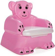 Розово детско гърне - Мече - гърне