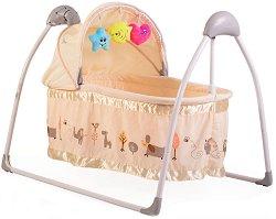 Бебешка люлка с кош - Accent - С мелодии, светлини и дистанционно -
