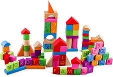 Детски дървен конструктор - 100 части -