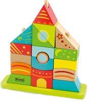 Замък - Дървена играчка за нанизване -