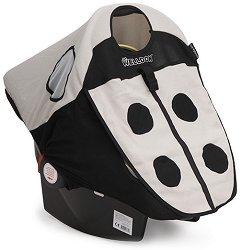 Допълнителен сенник - Lady Bug - Аксесоар за детско кошче за кола -