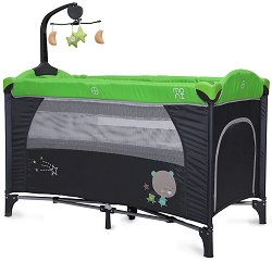 Сгъваемо бебешко легло на две нива - Moon Way - Комплект с аксесоари - продукт