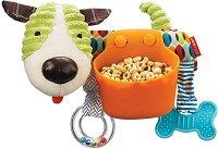 Кученце с купичка за съхранение на храна - Мека играчка за количка или легло - играчка