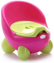 Розово детско гърне с капак - Throne - продукт