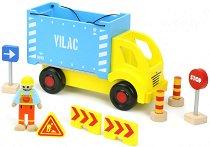"""Камион с каросерия - Дървена играчка с аксесоари от серията """"Vilacity"""" -"""