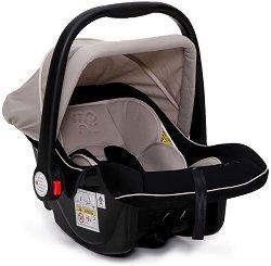 Бебешко кошче за кола - Luna: Beige - За бебета от 0 месеца до 13 kg -