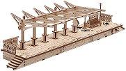 Перон за локомотив - Механичен 3D пъзел -