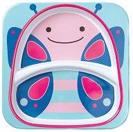 """Чиния за хранене с две отделения - Пеперуда - За бебета над 6 месеца от серията """"Zoo"""" -"""