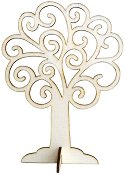 Сглобяема фигурка от шперплат - Ажурно дърво - Предмет за декориране с височина 12 cm