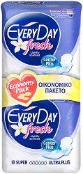 EveryDay Super Ultra Plus Fresh - Дамски превръзки с крилца в опаковка от 18 броя -