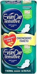 EveryDay Normal Ultra Plus Sensitive - Дамски превръзки с крилца в опаковка от 18 броя -