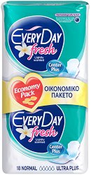 EveryDay Normal Ultra Plus Fresh - Дамски превръзки с крилца в опаковка от 18 броя - продукт