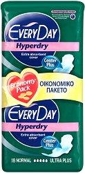 EveryDay Normal Ultra Plus Hyperdry - Дамски превръзки с крилца в опаковка от 18 броя -