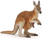 """Кенгуру с бебе кенгуру - Фигура от серията """"Диви животни"""" -"""