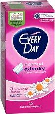 EveryDay Normal Extra Dry - Ежедневни дамски превръзки с екстракт от лайка в опаковки от 30 и 60 броя - дезодорант