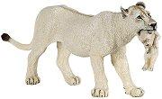"""Бяла лъвица с малко лъвче - Фигура от серията """"Диви животни"""" - фигура"""