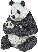 """Седнала панда с бебе панда - Фигура от серията """"Диви животни"""" - фигура"""