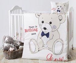 Спален комплект за бебешко креватче - Teddy Bear - 3 части -