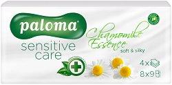 Paloma Sensitive Care Chamomile Essense Soft & Silky - Носни кърпички с екстракт от лайка в опаковка от 8 броя пакетчета - продукт
