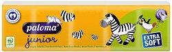 Paloma Junior Extra Soft - Детски носни кърпички в опаковка от 10 броя пакетчета -