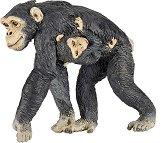 Маймуна - Шимпанзе с бебе - играчка