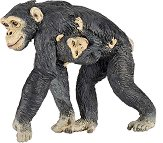 Маймуна - Шимпанзе с бебе - фигура