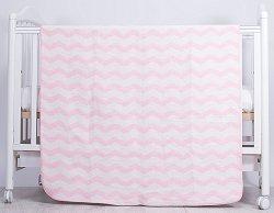 Бебешко одеяло - Zig-Zag: Pink - Размер 90 x 110 cm - продукт