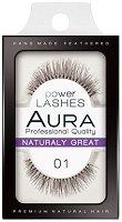 """Aura Power Lashes Naturaly Great 01 - Мигли от естествен косъм от серията """"Power Lashes"""" - продукт"""