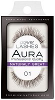 """Aura Power Lashes Naturaly Great 01 - Мигли от естествен косъм от серията """"Power Lashes"""" - молив"""